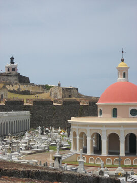 old fort and cemetery san juan puerto rico