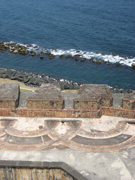 view over canons old fort san juan puerto rico