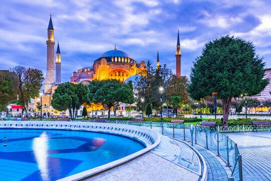 Istanbul, Turkey - Hagia Sophia mosque in Sultanahmet