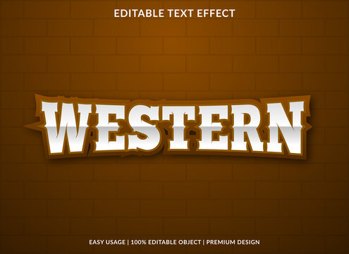 western text effect template with bold style use for business brand and logo