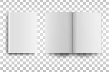 Obraz Empty book or magazine mack up isolated. - fototapety do salonu