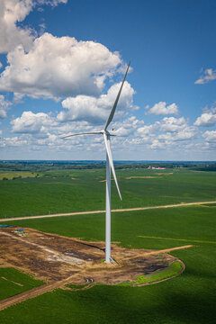drone windmill in iowa