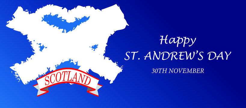 ST. Andrew's Day cross symbol design vector illustration.