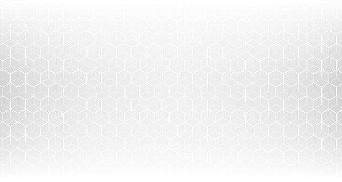 clean white hexagonal pattern mesh background