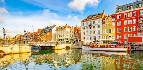 Copenhagen old town skyline, Denmark