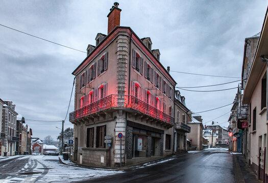 Allassac (Corrèze, France) - Vue hivernale sous la neige
