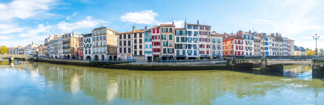 panoramic views of bayonne old town, France