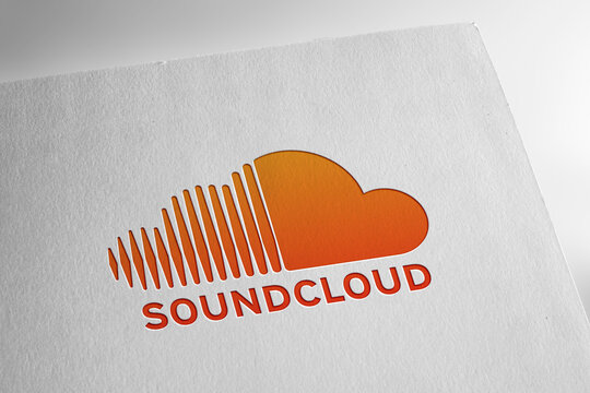 Soundcloud logo on textured paper