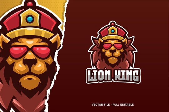 Lion King E-sport Logo Template