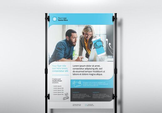 Blue Web Design Flyer Layout