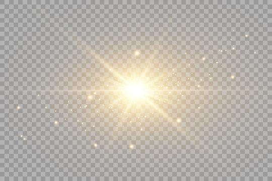 Vector transparent sunlight special lens flare light effect. PNG. Vector illustration