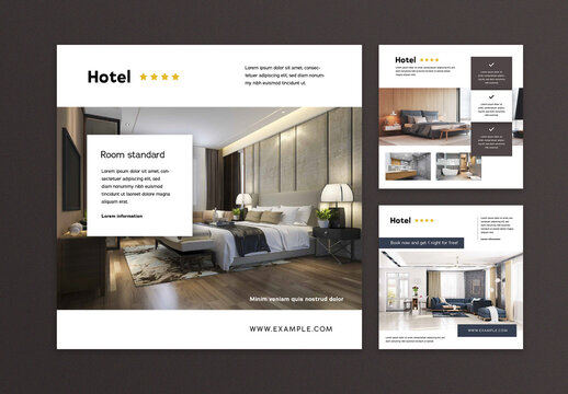 Square Hotel Layouts for Social Media Promotion