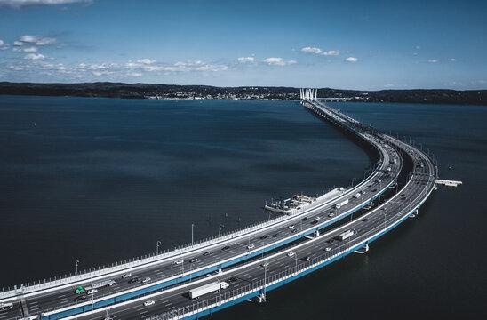 Gov. Mario M. Cuomo Bridge spanning the Hudson River, NY