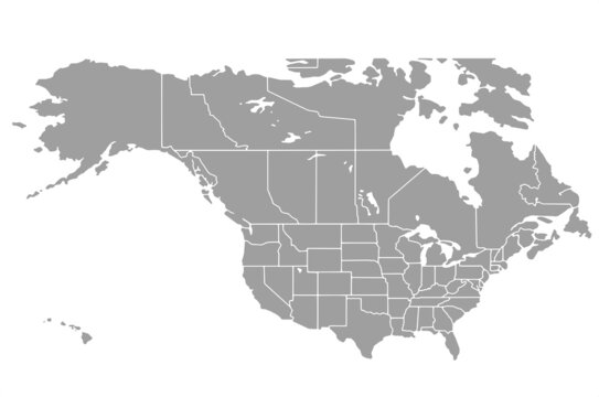 North American Countries Map.