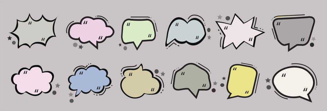 text ballon or text bubble