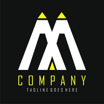 a white and yellow logo vector design