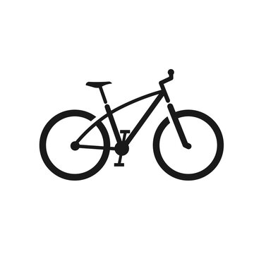 Bicycle icon vector isolated on white background. Vector illustration. - stock vector. bicycle icon vector design template. Bicycle outline icon