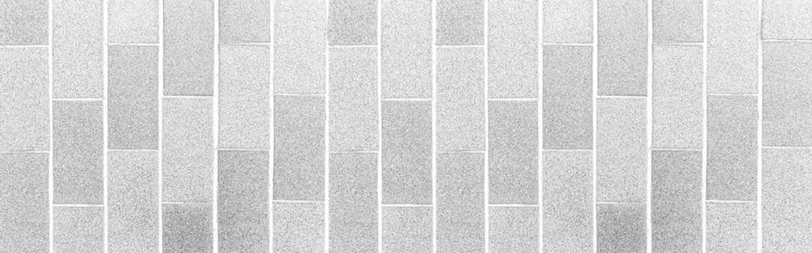 Panorama of Granite tile floor white terrazzo outside the building pattern and background seamless