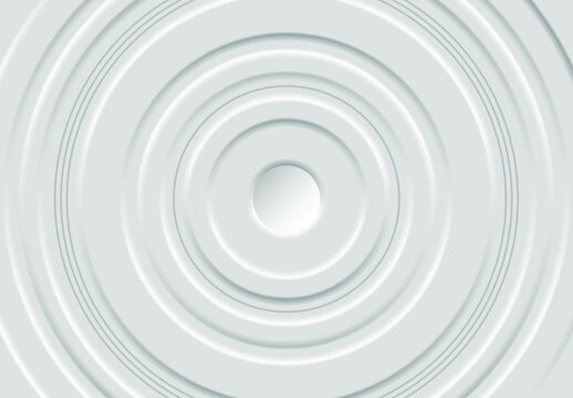 Multilayered light gray round frame. Vector illustration EPS10