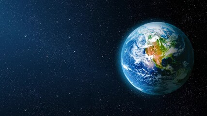 Wall Mural - motion in space overlooking the earth. Elements of this image furnished by NASA