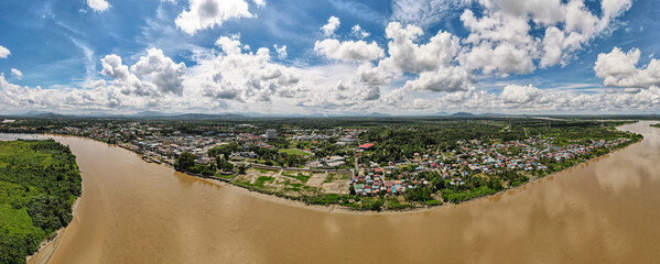 Panorama view of Sri Aman, Sarawak