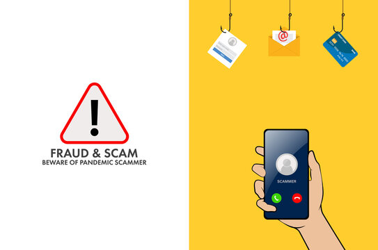 Fraud and scam online banking, transfer, email and data breach