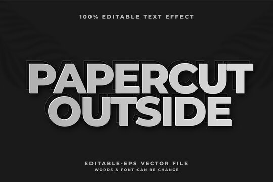 Paper cut out style editable text effect Premium Vector