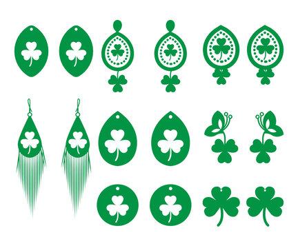 Shamrock Earrings, St. Patrick's Day svg, Saint patrick's Day svg, Unicorn svg, Shamrock svg, Funny patrick's day svg, svg, eps, dxf, png