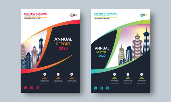 Annual Report Layout Design. Professional Creative Modern Design