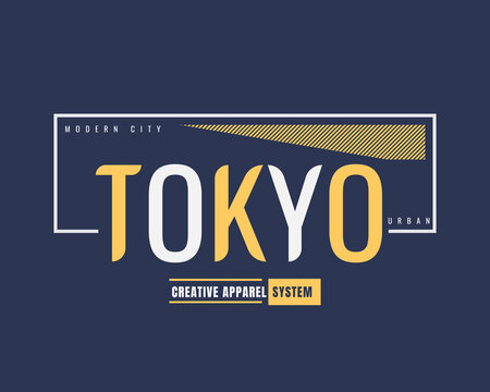 Vector illustration of text graphics, Tokyo. suitable for the design of shirts, hoodies, etc.