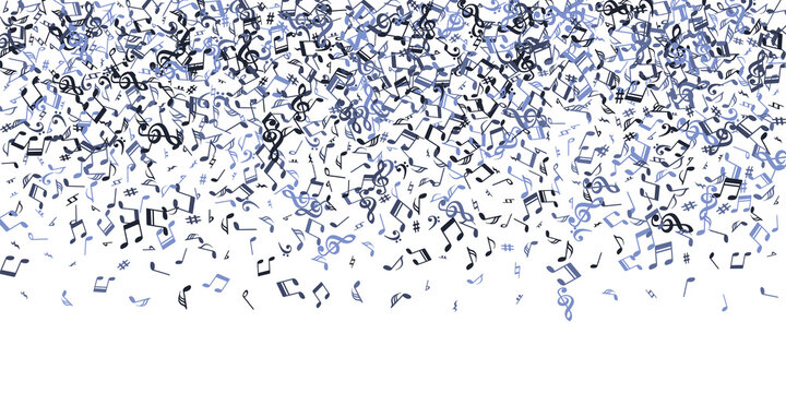Musical note icons vector illustration. Song