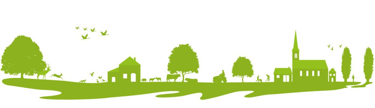 Frise-à la campagne-vert