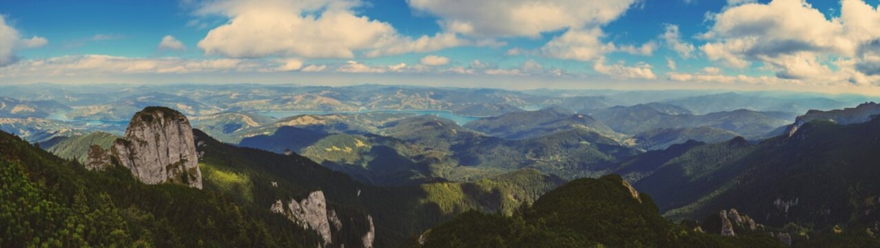 panorama of the mountains