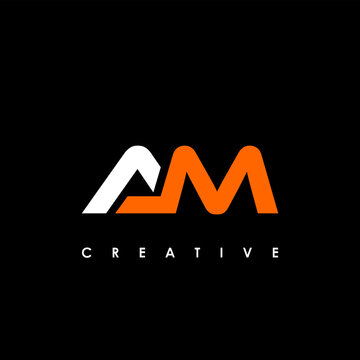 AM Letter Initial Logo Design Template Vector Illustration