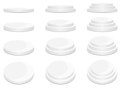 Round stage podium vector design illustration isolated on white background