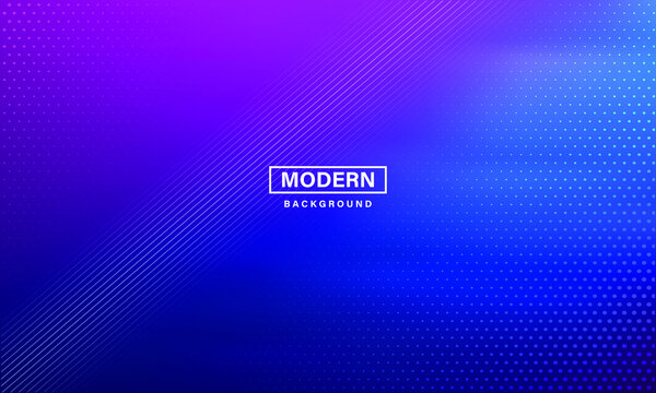 Neon background. Illustration with blue light effect. Abstract dark background with glowing blue particles. Modern blue abstract background, the look of stainless steel, circular lines on a blue.