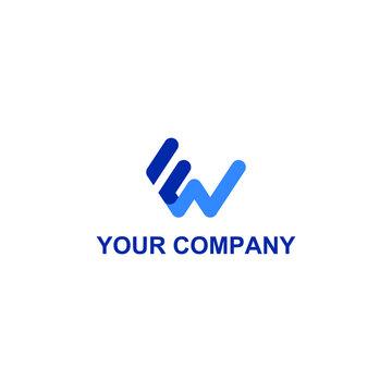 fw icon vector logo design. fw template quality logo symbol inspiration
