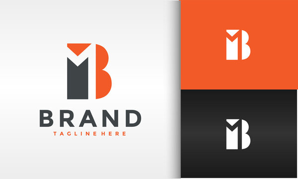 monogram letter MB logo