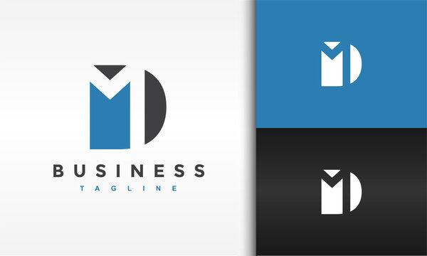 monogram letter DM logo