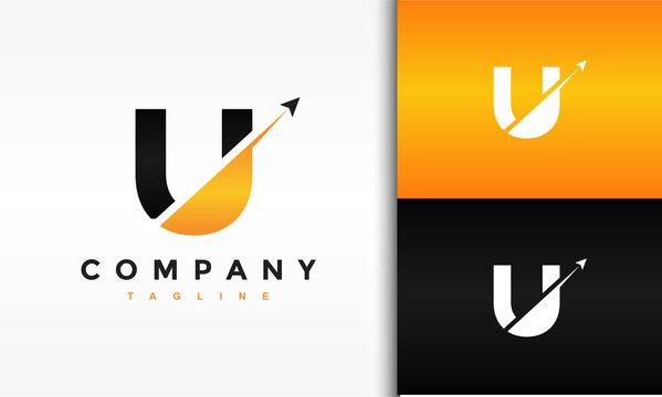initial U launch fly logo