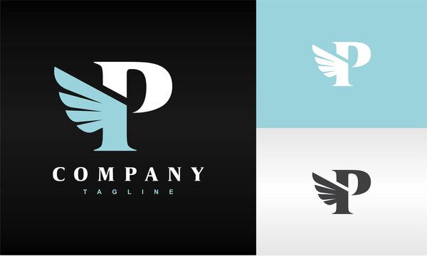 initials P wing logo