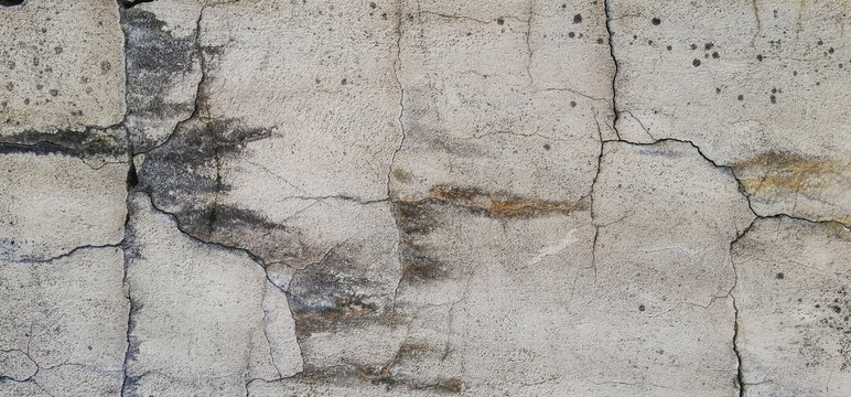 texture of old cracked concrete surface background