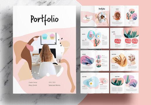 Pink Portfolio Layout