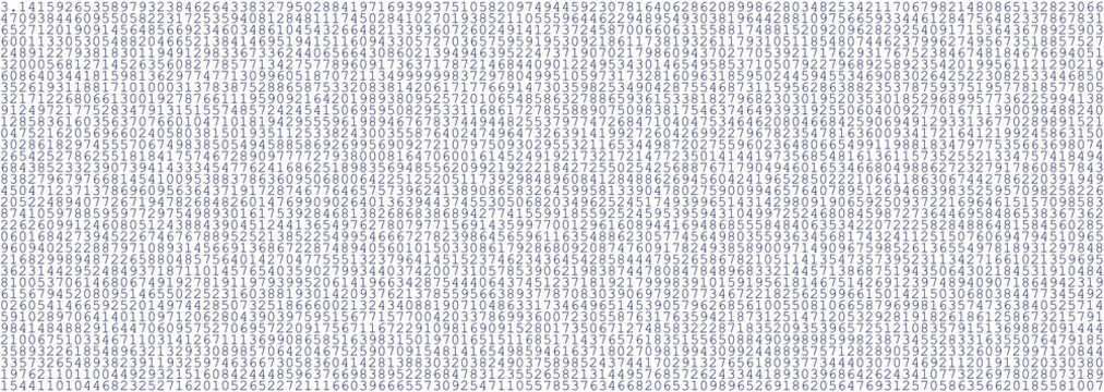 number of pi as a background