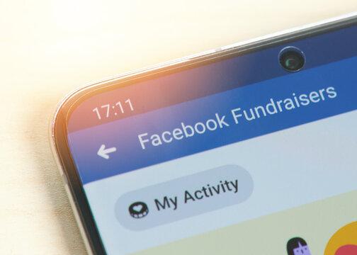 Facebook fundraisers service