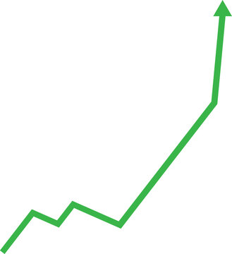 stock price going up graphic