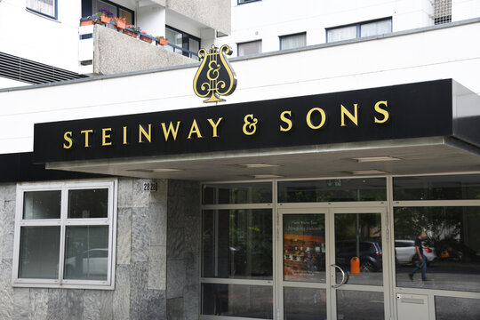 Berlin, Germany - July 20, 2019: Steinway & Sons in Berlin, Germany - Steinway is a German-American piano company, founded in 1853