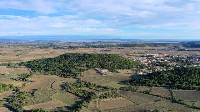 survol des vignes dans le sud de la France