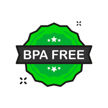 BPA FREE badge green Stamp icon in flat style on white background. Vector illustration.