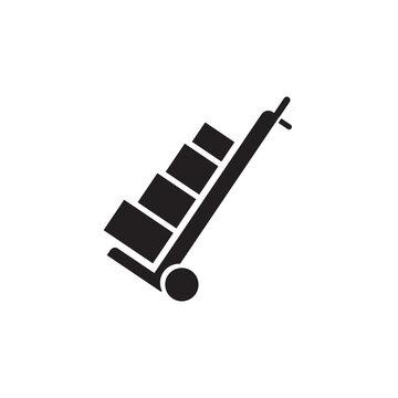 box trolley icon symbol sign vector
